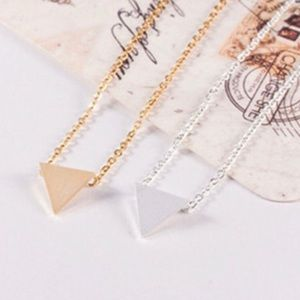 Jewelry - 4 for $25 solid triangle minimalist necklace